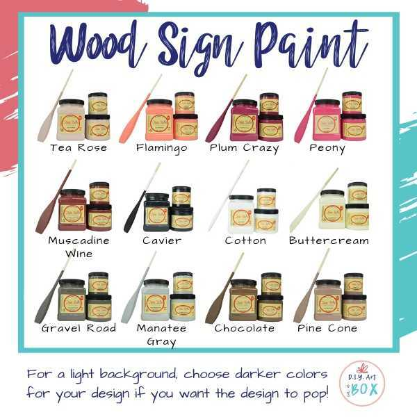 Wood sign painting colors