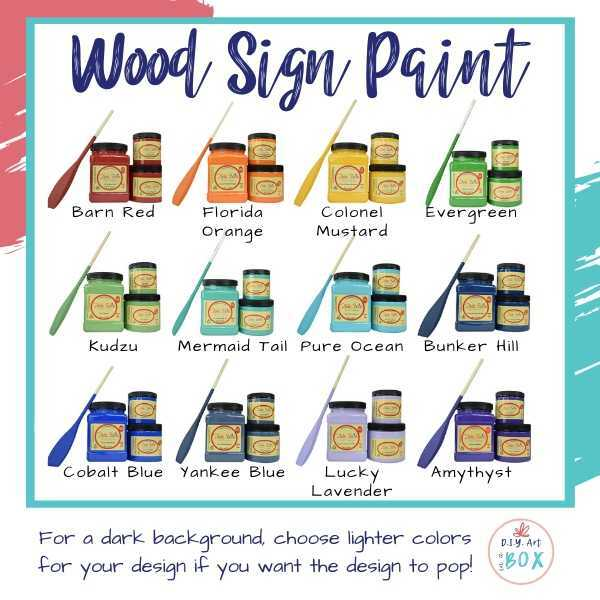 Wood Sign Paint color options