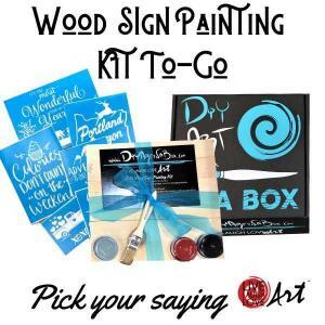 Wood Sign Painting Kit to go