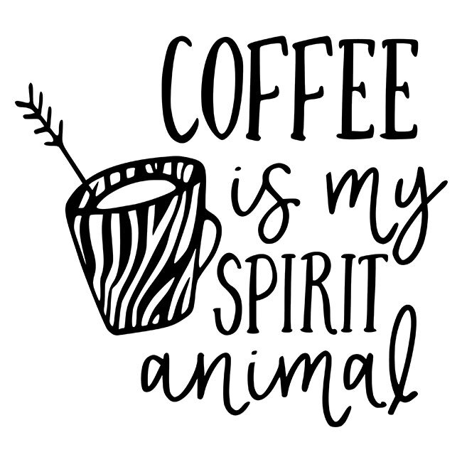 Coffee Is My Spirit Animal Kit