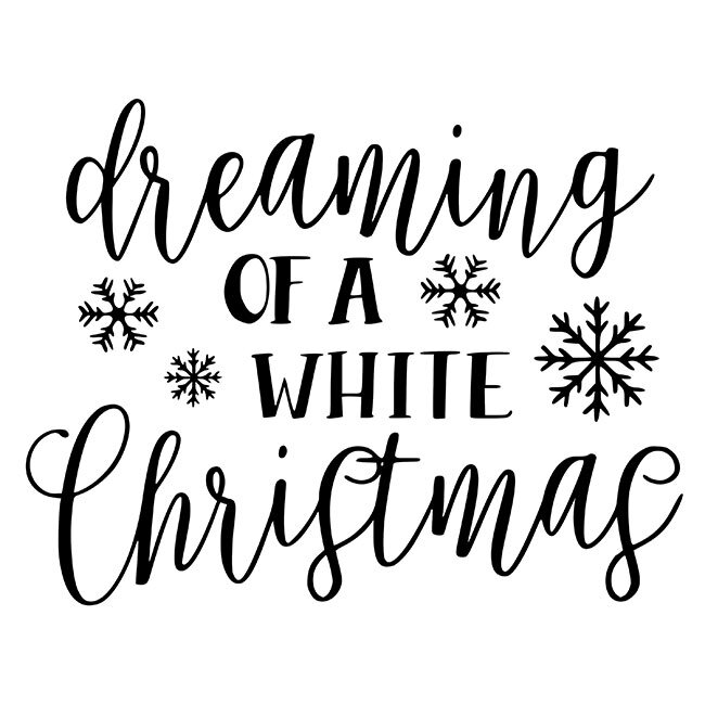Dreaming Of A White Christmas.Dreaming Of A White Christmas Kit