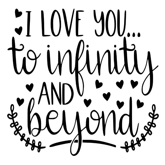 I Love You To Infinity And Beyond Kit - DIY Art in a Box