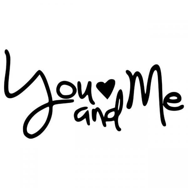 You and Me And wood sign stencil