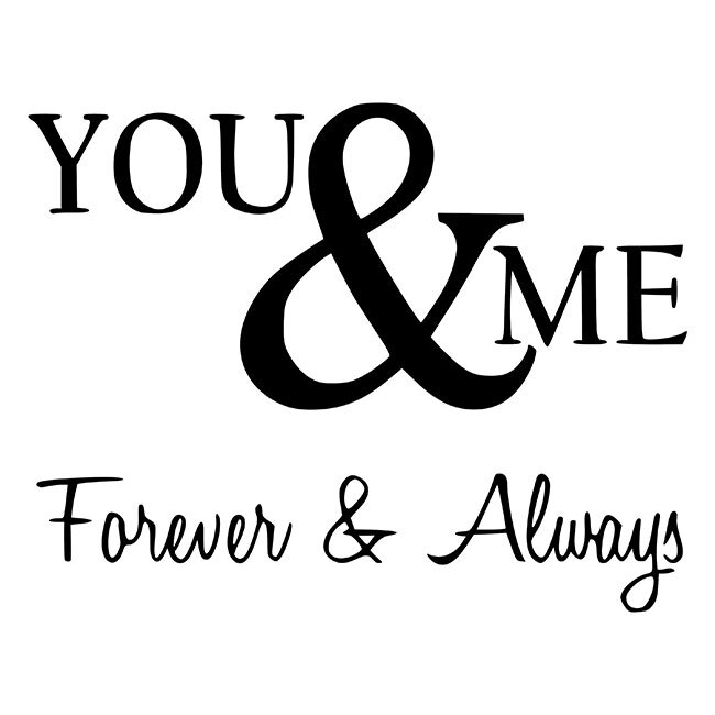 You And Me Forever And Always Stencil Diy Art In A Box