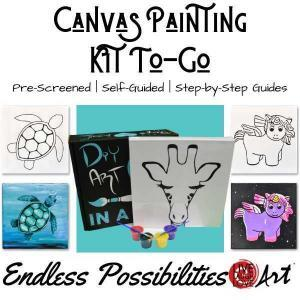 Canvas Painting kit to go