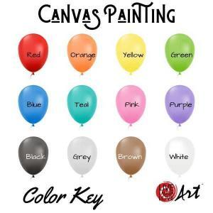 Canvas Painting kit to go color key