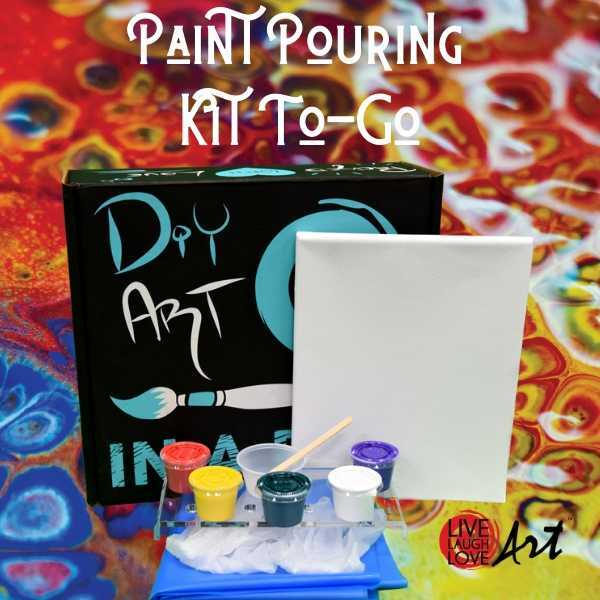 Paint Pouring Kit to go