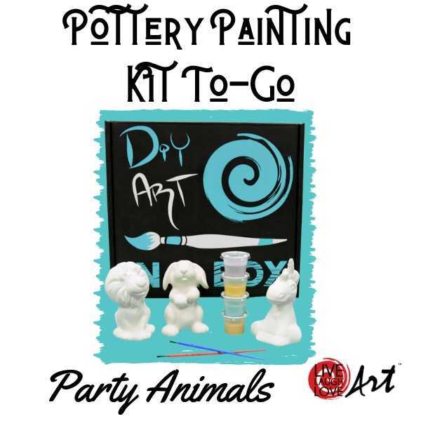 Pottery Painting Kit to go Party Animals