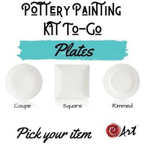 Pottery Painting Kit to go plates