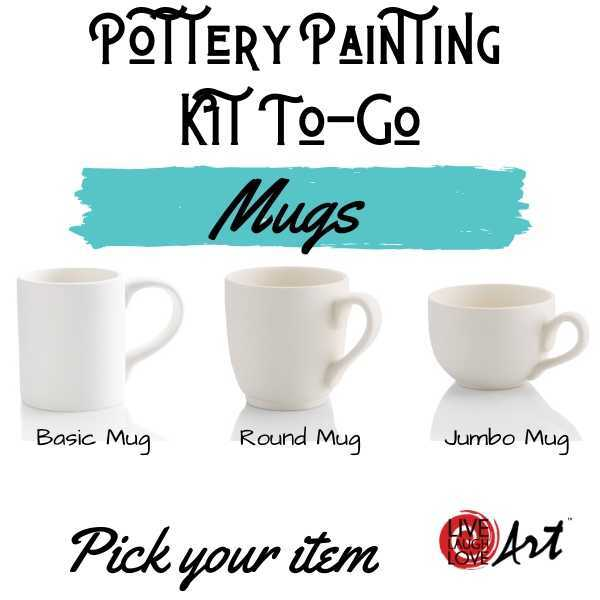 Pottery Painting Kit to go Mugs