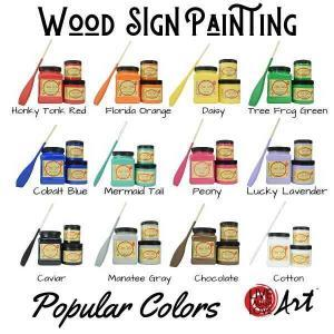 Wood Sign Painting Kit to go Popular colors
