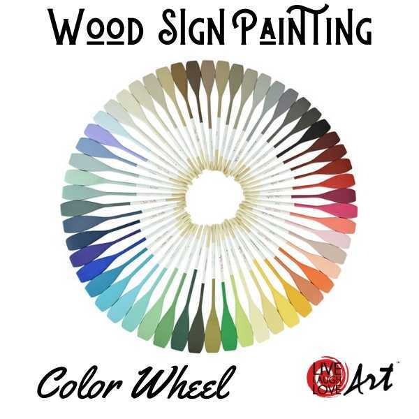 Wood Sign Painting Kit to go Color Wheel