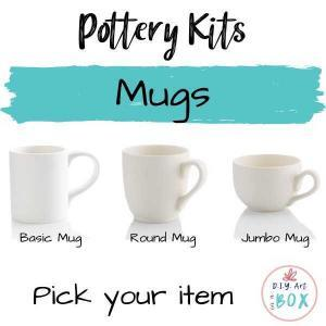 Pottery mug painting to-go kit