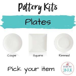 pottery plate painting or glaze kit