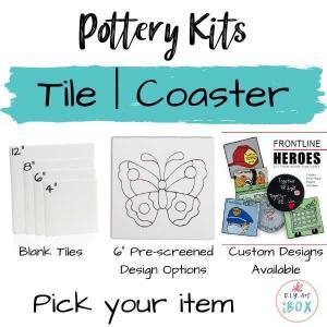 Tile Pottery Tile or Coaster pick your item