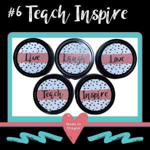 #6 Teach Inspire Candle theme designs