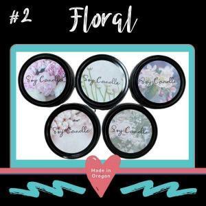 #2 Floral flower design candle kit