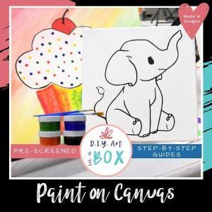 Paint on Canvas take home acrylic painting kit