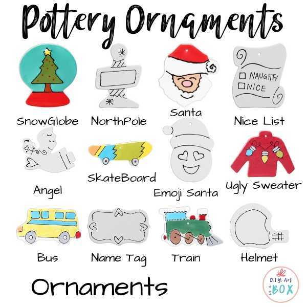 Pottery ornaments coloring kit