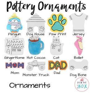 Potter ornaments coloring kit