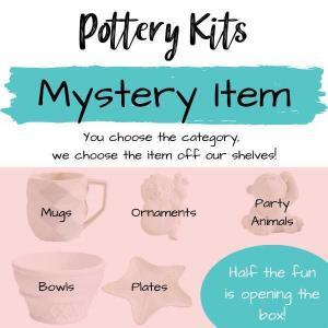 Pottery Kits, Mystery Mystery Pottery, You choose the category we choose the product.