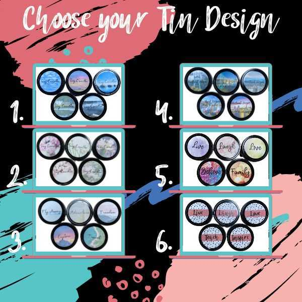 Choice of 6 soy candle kit tin themes